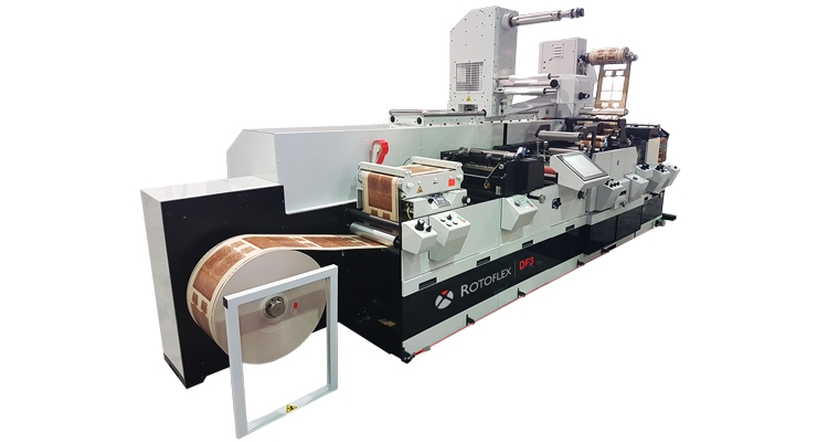 The Rotoflex DF3 offline digital finishing system