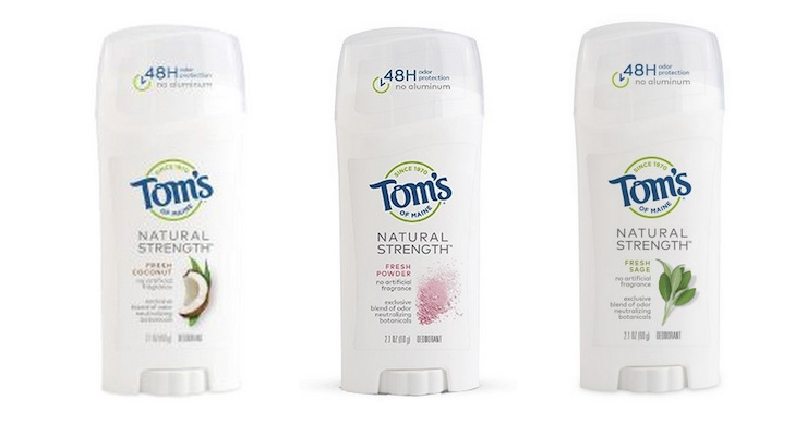 Tom's Of Maine Launches New Natural Strength Deodorant Line
