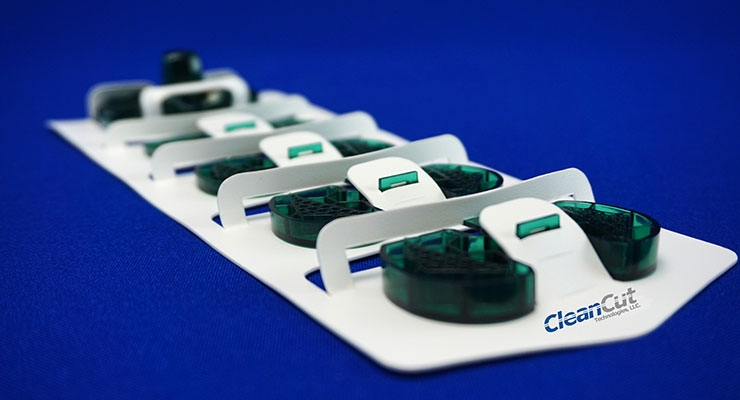 Orthopedic knee implant packaging. Image courtesy of CleanCut Technologies.