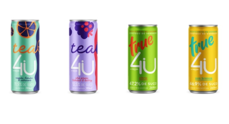 Danone Unveils New Line of Carbonated Juices, Teas in Brazil in Crown Cans