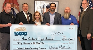 Yazoo Mills donates to local school