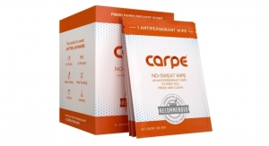 Carpe Introduces Antiperspirant Wipe