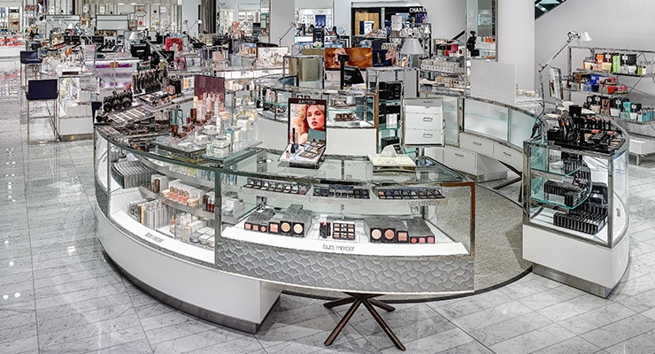 3. Neiman Marcus in Beverly Hills remodeled its beauty floor.