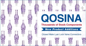 Qosina Adds Closed Male Luer Lock Valves