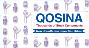 Qosina Introduces Three New Needleless, Swabbable Injection Sites