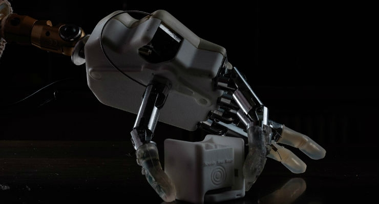 The next-generation bionic hand, developed by researchers from EPFL, the Sant