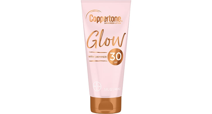 Coppertone Glow delivers broad  spectrum protection with shimmer.