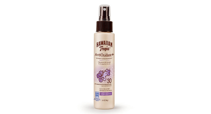 Hawaiian Tropic Antioxidant Plus is  a new mist format.