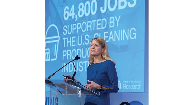 ACI president and CEO Melissa Hockstad highlighted the results of a recent ACI report detailing the economic impact of the U.S. cleaning product supply chain.