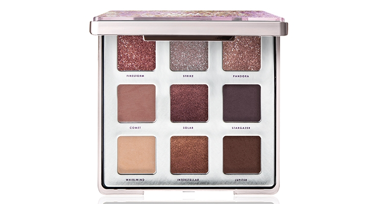 A 'magical cascading glitter decoration' highlights  HCP's Glitter Storm eyeshadow palette for Ciaté London