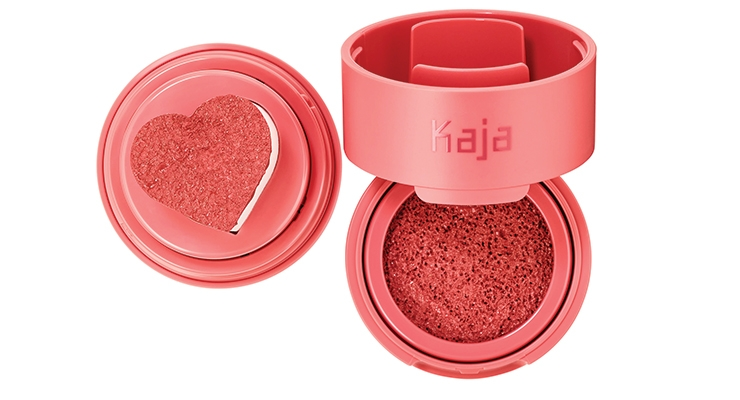 "Kaja launched a line of ""bite-sized"" makeup products in the Pantone Color of the Year Coral shade."