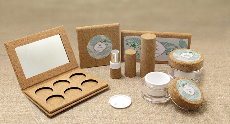 LoMei developed a cork material that can be used for packaging.