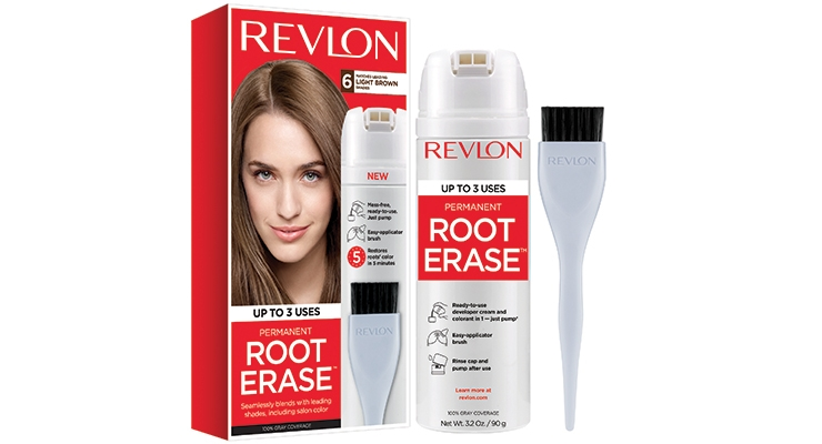 Revlon selected The Dual, a dual-valve canister dispenser from Toyo & Deutsche Aerosol GmbH, to deliver its Root Erase root touch-up kit.