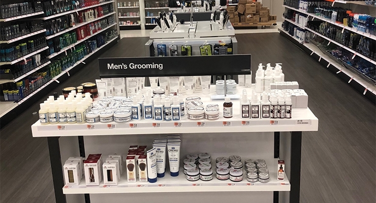 Target has ramped up its Men's Grooming offerings via in-store male-specific 'grooming sections.' The retailer is looking to double its male business by 2020.