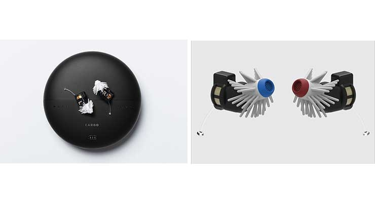 Figure 2: Direct-to-consumer hearing aids by Eargo. Images courtesy of Eargo.