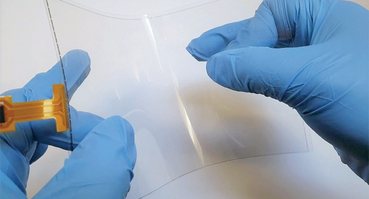 A flexible touch sensor with C3Nano's Activegrid transparent conductive ink and film. (Photo courtesy of C3Nano)