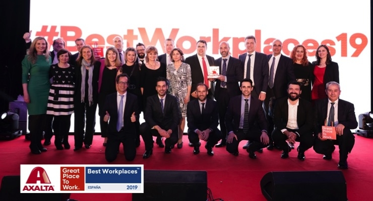 Axalta Spain Makes Top 30 of Best Workplaces 2019
