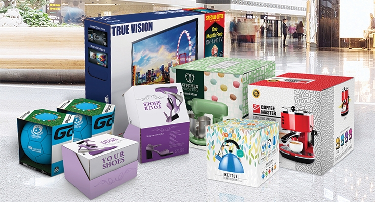 Boxes printed on an HP Scitex printer. (Source: HP)