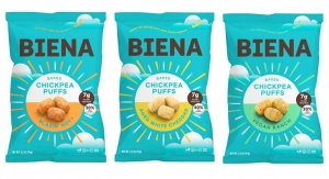 Biena Grows Portfolio of Plant Protein Snacks with Baked Chickpea Puffs