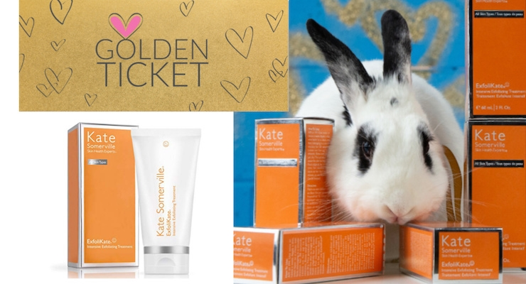 Kate Somerville Celebrates Cruelty-Free Certification with Golden Tickets in Packaging