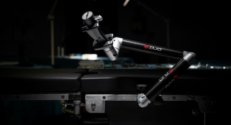 DJO ADAPTABLE Surgical Arm. Image courtesy of Business Wire.