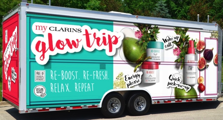 Clarins Hits the Road