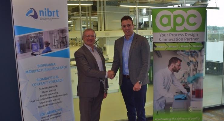 L-R - Mr. Dominic Carolan, CEO of NIBRT, and Dr. Mark Barrett, Co-Founder & CEO of APC Ltd.