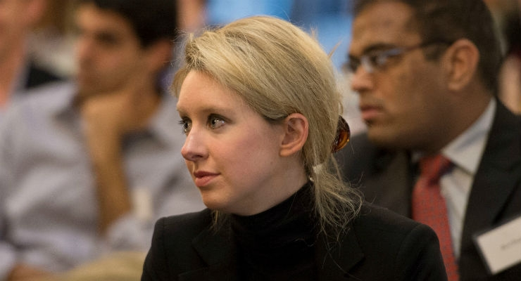The embattled founder of Theranos, Elizabeth Holmes.