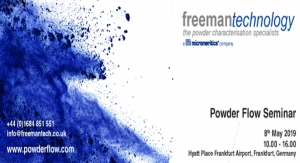 Freeman Technology Hosting Free Powder Flow Seminar in Frankfurt, Germany