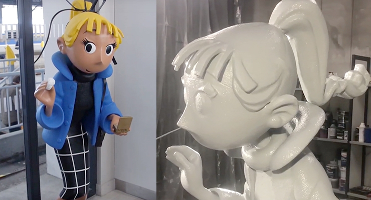 MÉTROPOLE Adorns French Train Station with 3D Comics Characters Using Massivit 3D