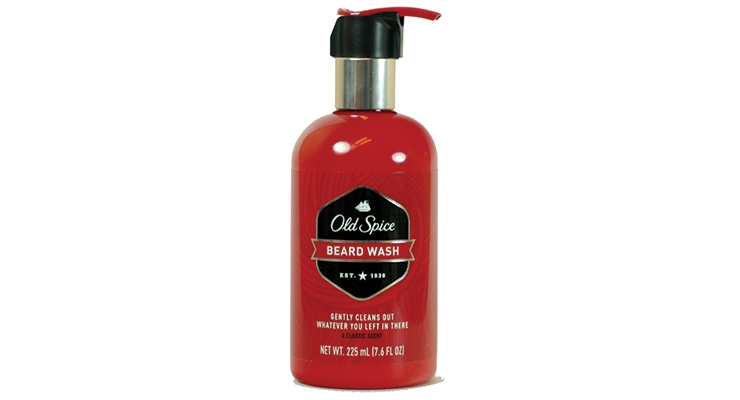 Old Spice Beard Wash with the protective E-clip from Aptar.