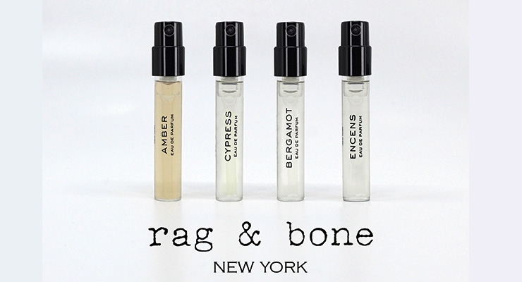 New York apparel company Rag & Bone chose Arcade Beauty's at-the-ready fragrance vial format to create a four-piece suite of customized fragrance samples.