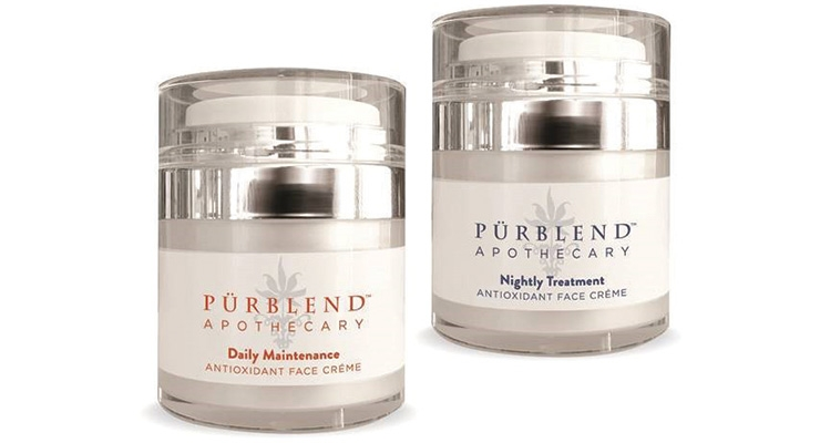 Qosmedix supplied PurBlend Science with stock packaging for many of its CBD products, including these airless jars  for Vitamin C and antioxidant moisturizers.