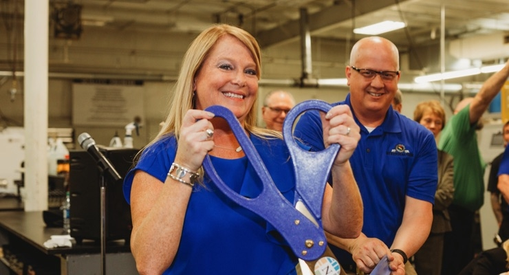 Halpin welcomes a new era to Steinhauser with the official Ribbon Cutting (also pictured: VP of Operations Rod Baehner.)