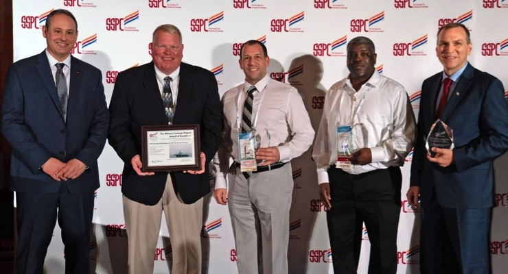 BARTON, Mid-Atlantic Coatings Wins SSPC Military Coatings Project Award of Excellence