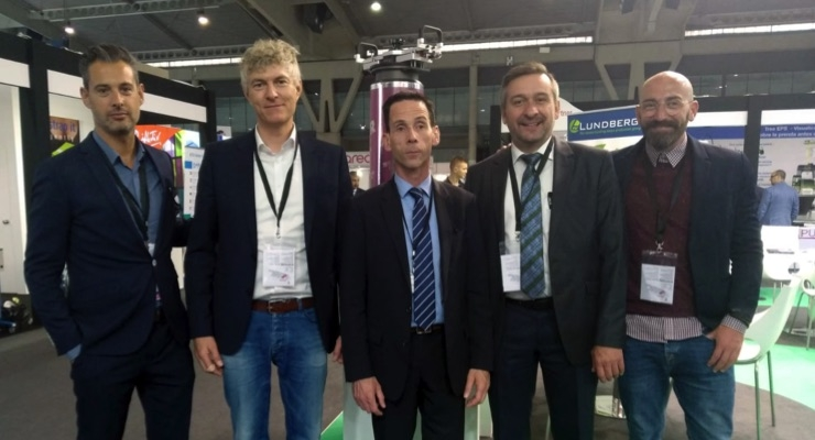 Members of Lapeyra & Taltavull and Kocher + Beck at Graphispag Expo in Spain.