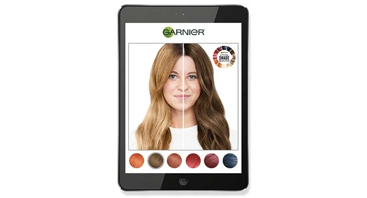 Garnier's new Virtual Shade Selector tool with Modiface is available now online.