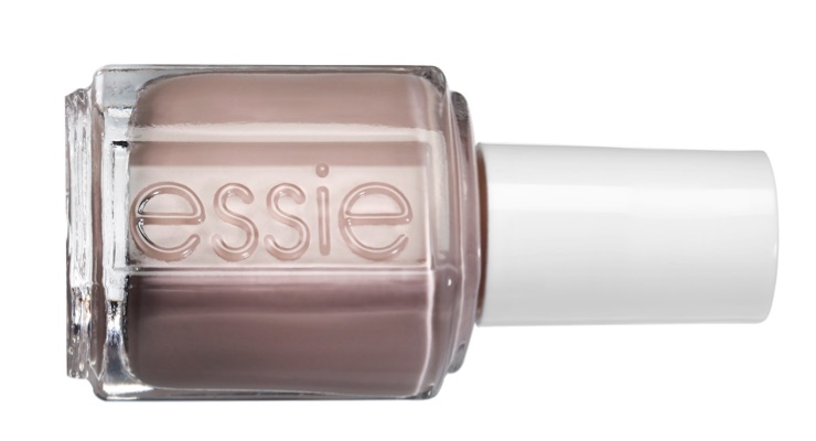 A matte, clean beige nail with a touch of pink