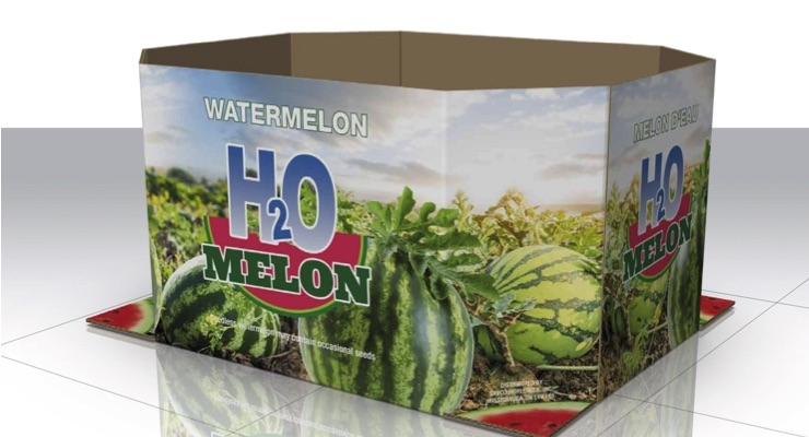 Savco Distributes Watermelons in Digitally Printed Corrugated Bins