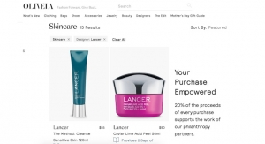 Lancer Skincare Launches on Olivela, a Philanthropic E-Tailer