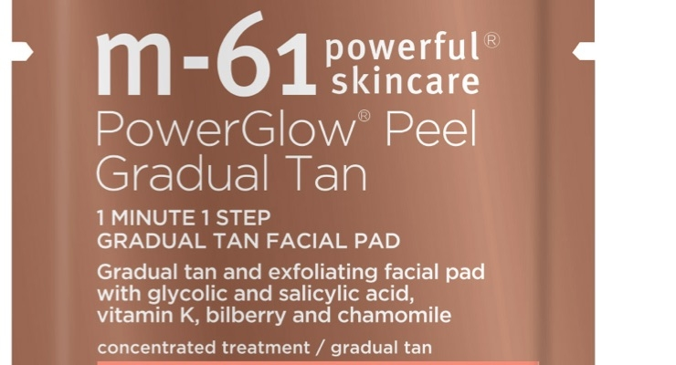M-61 Debuts PowerGlow Peel Gradual Tan