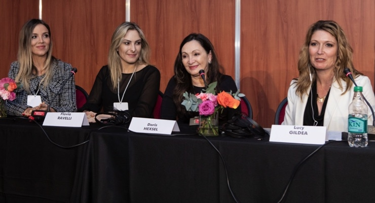 Mary Kay presenters at RADLA (from left to right): Juliana Boza, Flavia Ravelli, Doris Hexsel and Lucy Gildea.