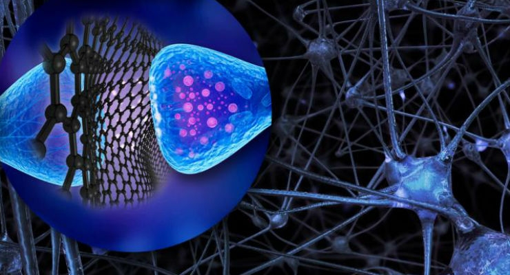 Submicroscopic Spacecrafts: Graphene Flakes to Control Neuron Activity