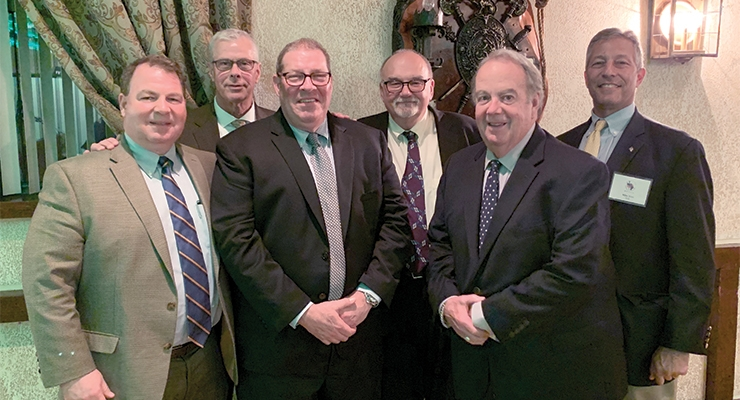 MNYPIA club officers, from left, Nick Vertucci, Chris Allen, Dale Pritchett, Dan Shevkun, Guy Trerotola and Michael Brice.