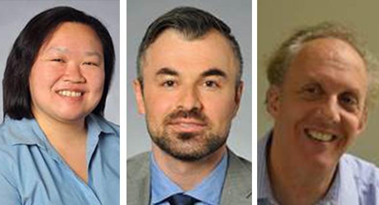 (l-r): Kelly Dong, MS; Klodjan Stafa, PhD and Earl Goyarts, PhD.
