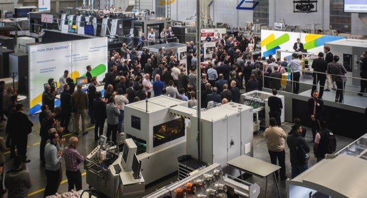 More than 350 participants from all over the world showed great interest in Heidelberg's packaging solutions at the Packaging Days at the Wiesloch-Walldorf site. (Source: Heidelberg)