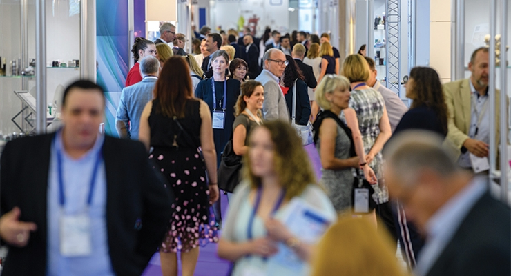 Show floor at CosmeticBusiness 2018