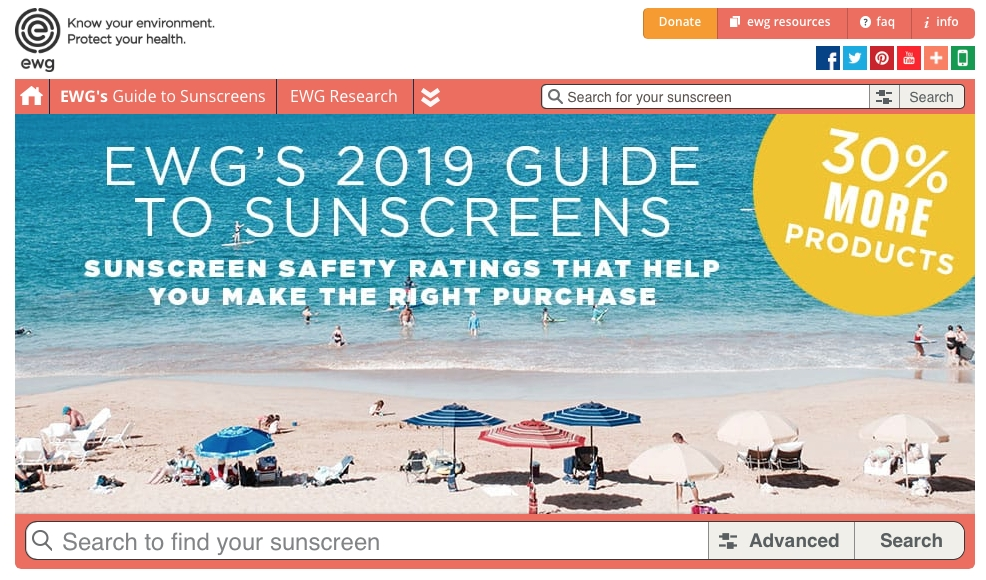 EWG Releases 2019 Sunscreen Guide