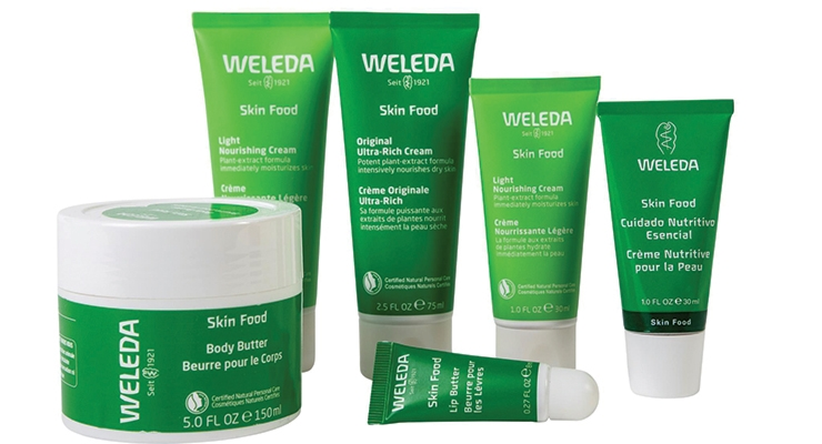 Most natural cosmetic sales come from large manufacturers, like Weleda.