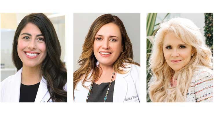 "Dr. Diana Camarillo, Dr. Shala Fardin and Dr. Gervaise Gerstner are part of the ""Derms for Derma E"" initiative."